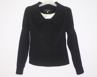 Isabel Marant MInimalist Black Jacket Coat Made In Italy Women Size 36