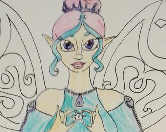 Ice Fairy Coloring Page