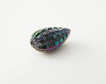 """1 x Pearl drop 17mm (l233) black """"scarab"""""""