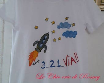 5 year child hand painted t-shirts