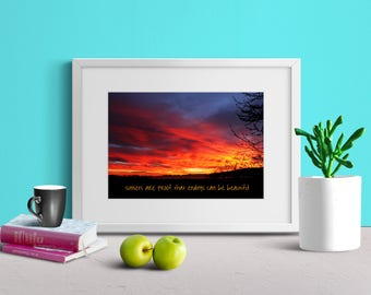 QUOTE PRINT DOWNLOAD   Spectacular Sunset   Utah Valley   Beautiful Contrast   Eye Catcher   Motivate Wall Decor   5x7 8x10 11x14 16x20 Pack