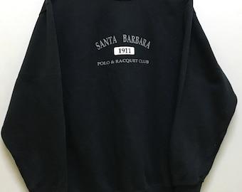 Rare!!! Vintage!!! Sale Santa Barbara Sweatshirt Spellout Embroidered Big Logo Pullover Sweater