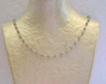 Grey Agate necklace on silver chain.
