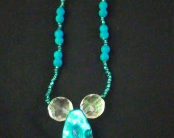 Blue shell pendant