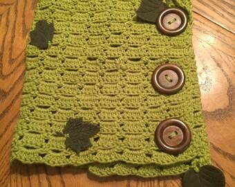 Cotton crochet cowl