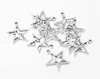 """20 """"double"""" beautiful star charms"""