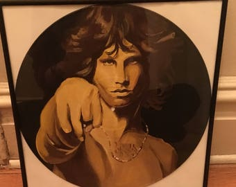 Jim Morrison Hand Painted Record