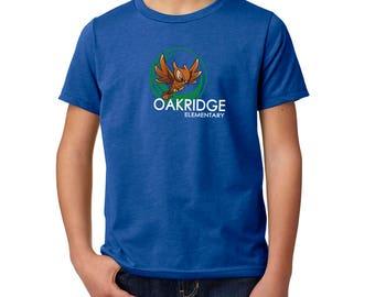 Oakridge Owls Elementary Youth T-Shirt, Oakridge Elementary, Spirit Wear, Youth Short Sleeve T-Shirt, Virginia