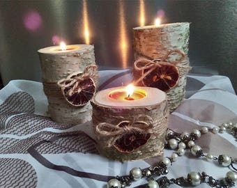 Wedding Decoration Wood 3 Candle holders Tree Branch Candle Holders rustic candle Wood Rustic Home Decor Candle Holder wedding decor rustic