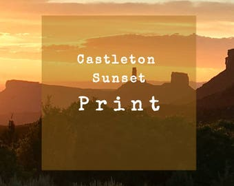 Limited Edition 8 X 10 Print of Castleton Sunset from Castle Valley, Utah