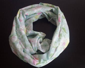 Silk floral infinity scarf