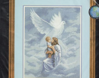Dove of Peace Spiritual Inspirational Counted Cross Stitch Kit