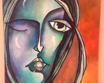 Original Acrylic Glaze Painting