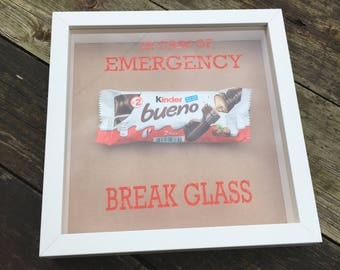 Personalised in case of emergency chocolate frame | novelty