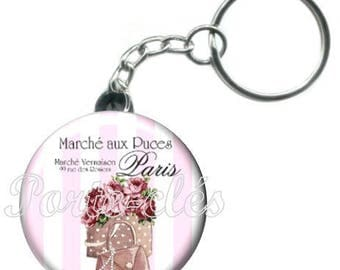 1 badge, Paris fashion bag keychain