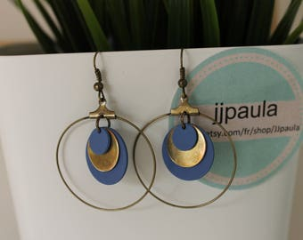 circles Blandine blue and bronze