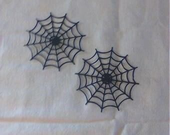5 Pack of Cardstock Black Spider Web