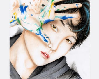 Suga BTS fan art