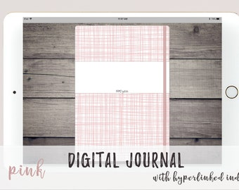 Pink Digital Bullet Journal for Goodnotes Noteshelf Notability | Linked Index Pages |  Simple Bujo Design with Dot Grid | Digital Journal