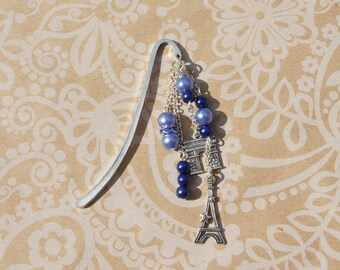 Bookmark Paris blue simple