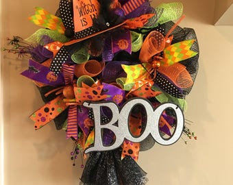 Halloween Wreath with witch