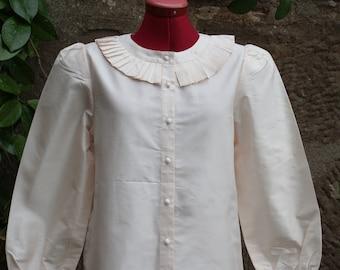 Ivory 80's silk blouse