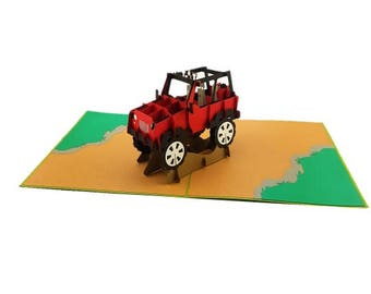 Four Wheel Drive 3D pop up card