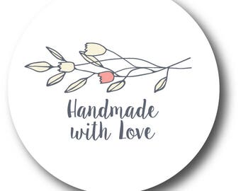 Personalized Homemade with love Stickers - Custom Labels - 90 stickers Package - Jam Jar Labels - Thank You Stickers -  Small Business