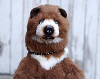 Teddy Bear Artist bear stile Artist 16,8 inch handmade collectible jointed OOAK Teddy Bear Staffed bear toy Realistic Teddy Bear