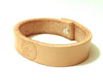 Natural Veg Tan Leather Bracelet/Cuff