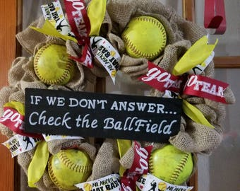 Softball wreath