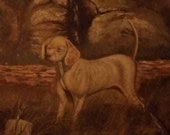 Talbot Dog by Rockburn Oil on canvas