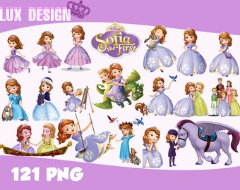 121 Sofia The First Clipart- PNG Images Digital, Clip Art, Instant Download, Graphics transparent background Scrapbook