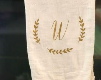 Monogram dish towel