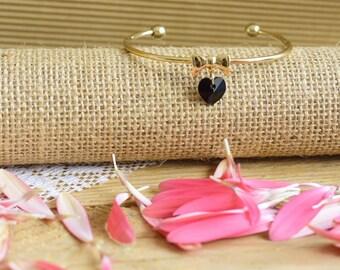 Gold cuff bracelet, Adjustable bracelet, Cuff bracelet for women, Bow bracelet, Gold charm bracelet, Swarovski bracelet gold, Swarovski cuff