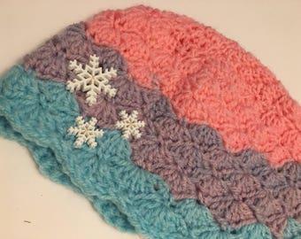 Snow flurries toddler hat