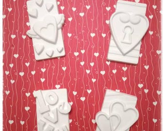 4 chalks Tag in Love/Valentine's Day/Love/Hearts