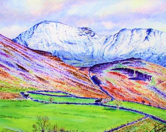 Limited Edition Fine Art Giclee Print on high quality 310gms Fabriano paper: Ennerdale Fell #01/50 by Martin Romanovsky