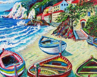 Limited Edition Giclée Print on stretched canvas by Martin Romanovsky: Life in Liguria #01/50