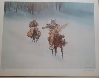 Vintage Print by Carlos Hadaway 1970s  Limited Edition Print signed by Artist