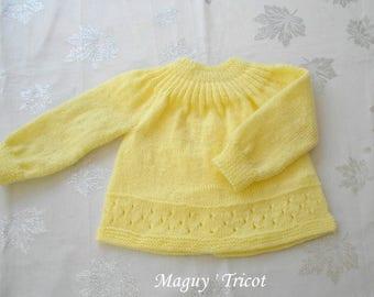 Baby wool yellow newborn baby to 3 months