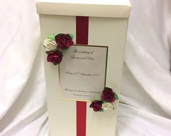 Personalised wedding post card box