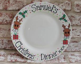 Personalised Christmas Dinner Plate