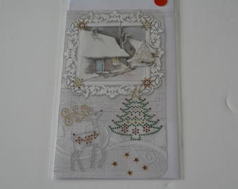 Christmas House snow card
