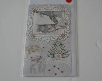 Christmas House snow card