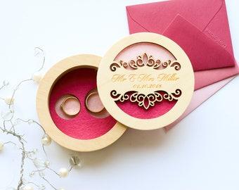 Ring box ideas, Spring wedding box, Lilac wedding ideas, Wedding ring box, Lace wedding ring, Ring Bearer Pillow, Engraved Ring holder