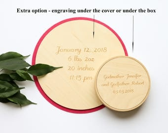 Extra option - engraving under the cover or under the box