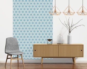 STERLING blue - repositionable adhesive wallpaper