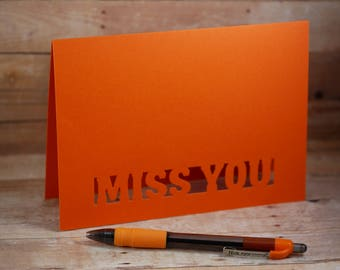 Miss you Laser Card,  Laser Cut Card, Miss you card, Love card, laser cards, Miss you
