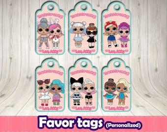 LOL SURPRISE favor tag, LOL surprise digital file,Lol surprise themed party,Lol surprise thank you tags.Lol surprise tag. Lol dolls birthday